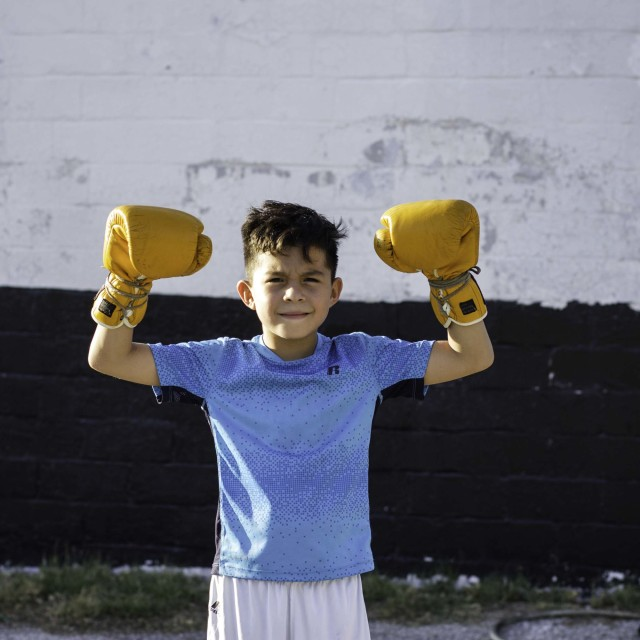 """"" Young Boxer"""" stock image"