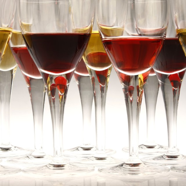"""""""wine and champagne in goblets"""" stock image"""