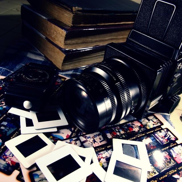 """medium format film camera"" stock image"