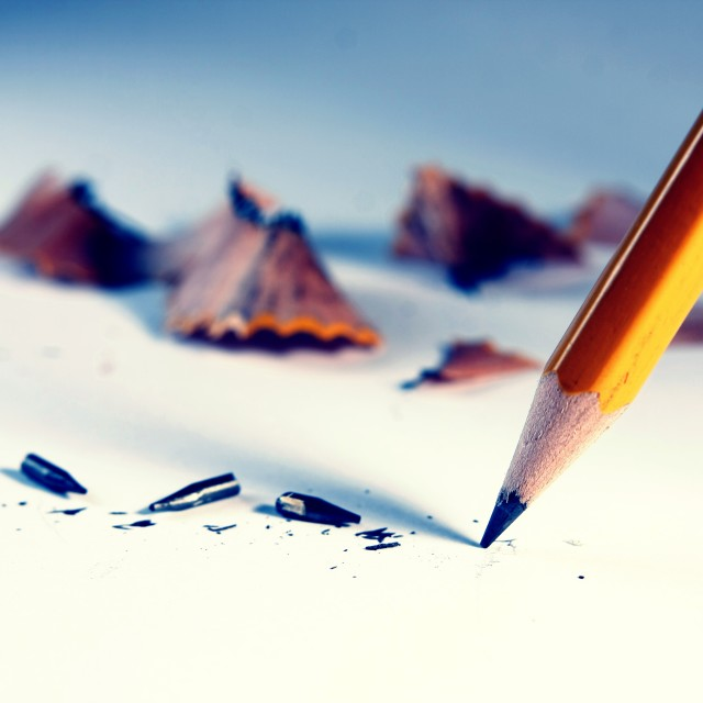"""pencil with pencil shavings"" stock image"