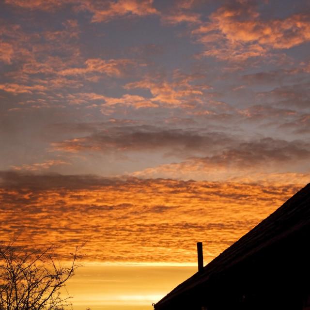 """""""Surrey Sunrise ~2"""" stock image"""
