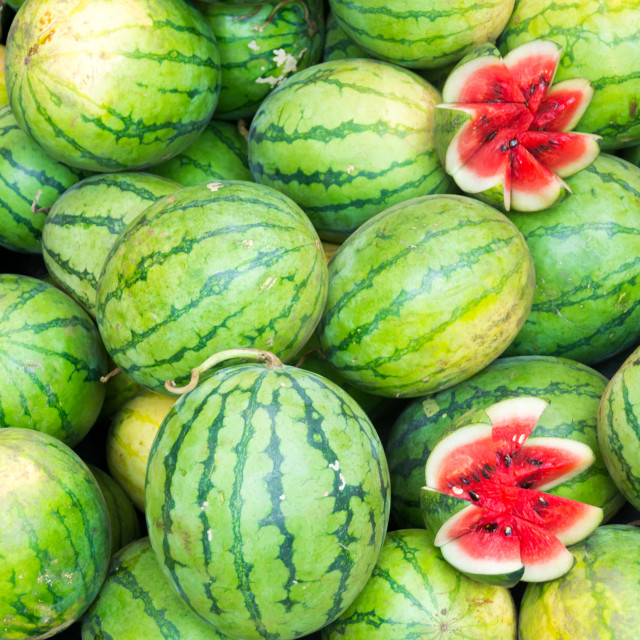 """Fresh watermelons"" stock image"