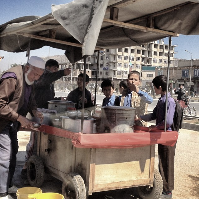 """School Meals - Kabul Style"" stock image"