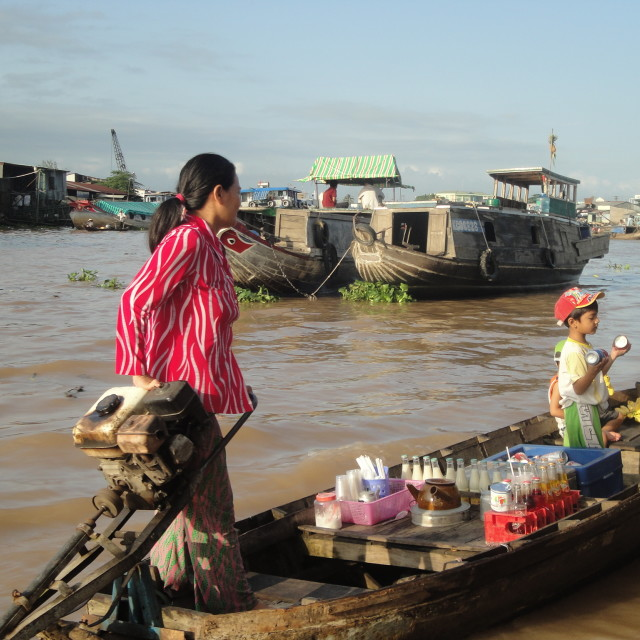 """""""River Traders"""" stock image"""