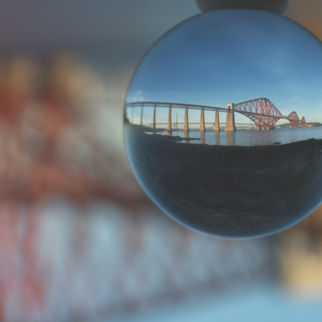 """Forth Rail Bridge Ball"" stock image"
