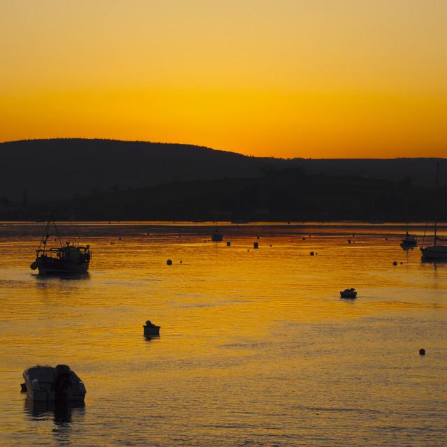 """Exe Estuary Sunset"" stock image"