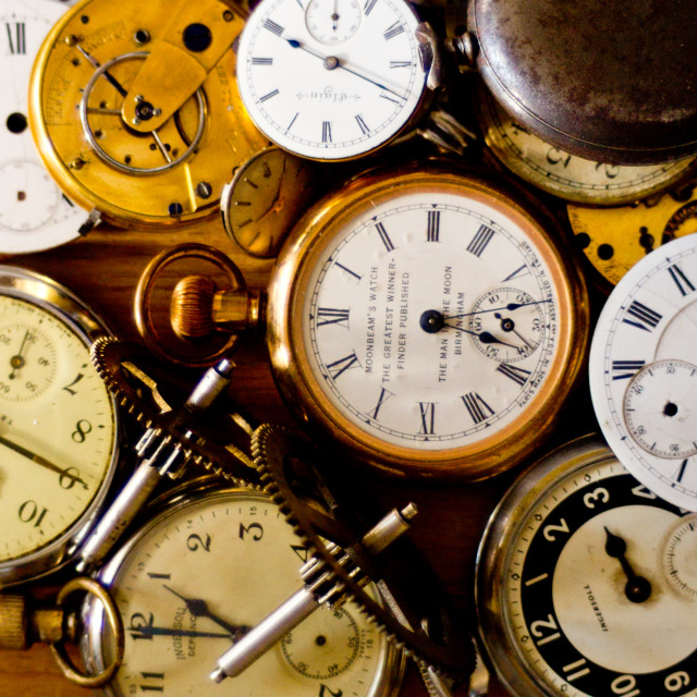 """""""pocket watches"""" stock image"""