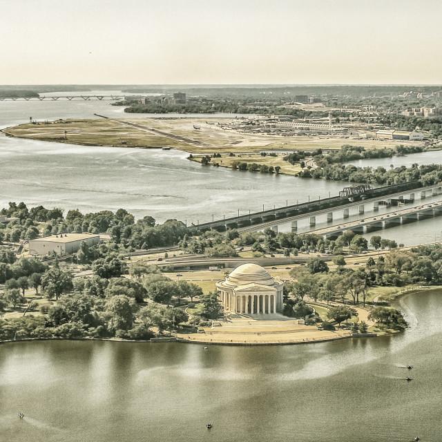 """View on Jefferson Memorial"" stock image"