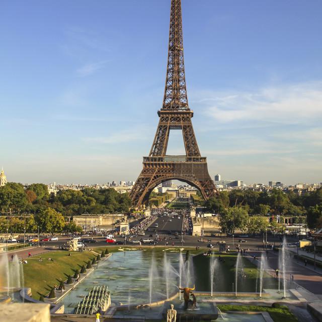 """Eiffel tower in Paris,"" stock image"
