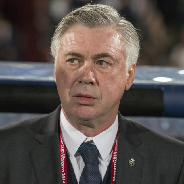 """""""Real Madrid manager Carlo ANCELOTTI"""" stock image"""