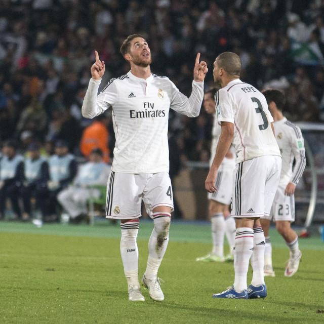"""Sergio Ramos and Pepe"" stock image"
