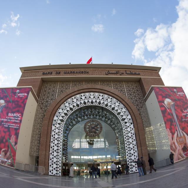 """Marrakech train station"" stock image"