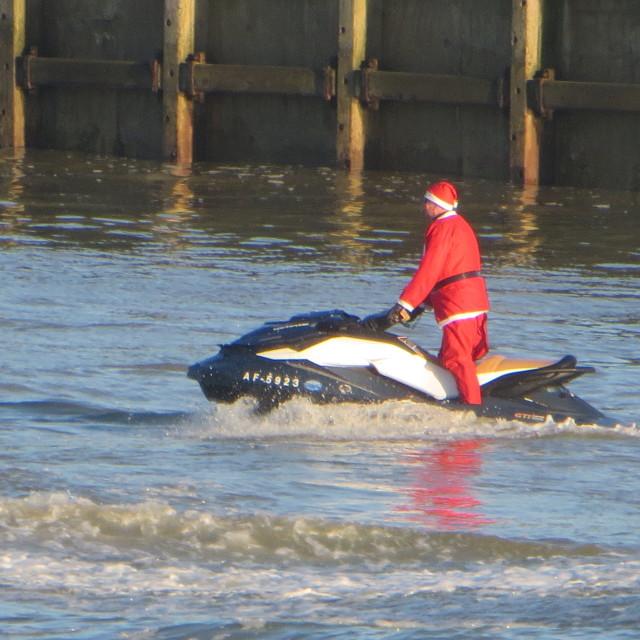 """Shoreham Harbour Santa"" stock image"