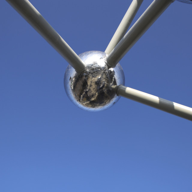 """""""The Atomium in Brussels"""" stock image"""