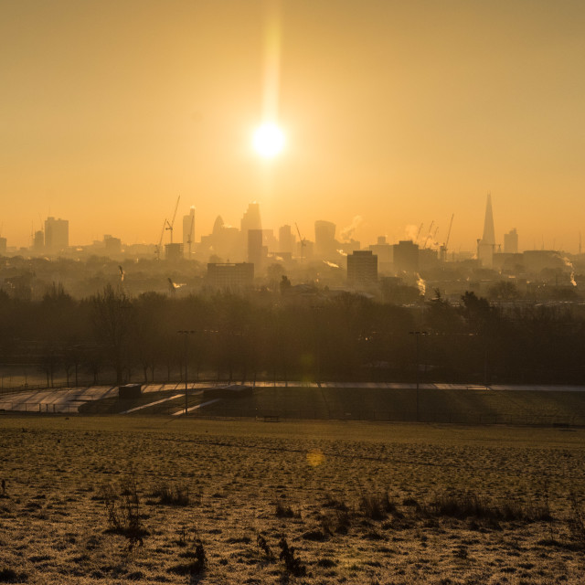 """Frosty London morning"" stock image"