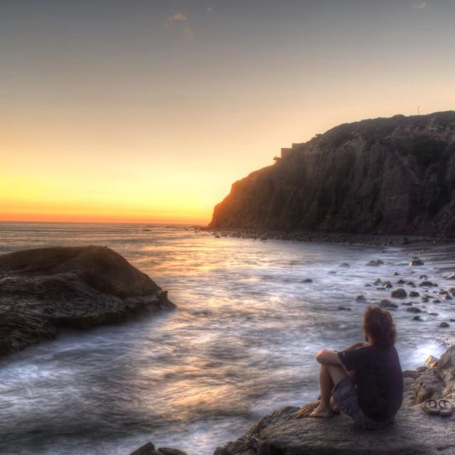"""California Sunset"" stock image"