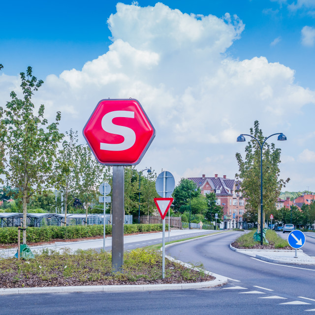 """S is for SIGN!"" stock image"