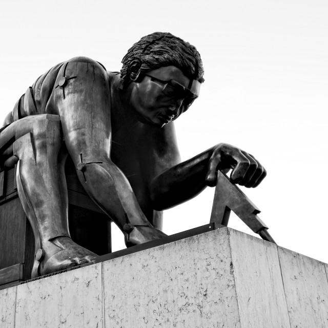 """Isaac Newton statue"" stock image"