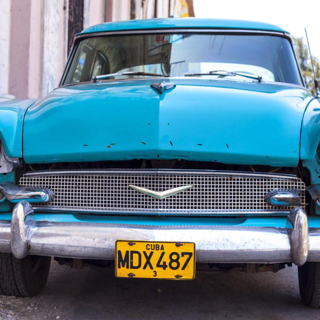 """Vintage car in Cuba"" stock image"
