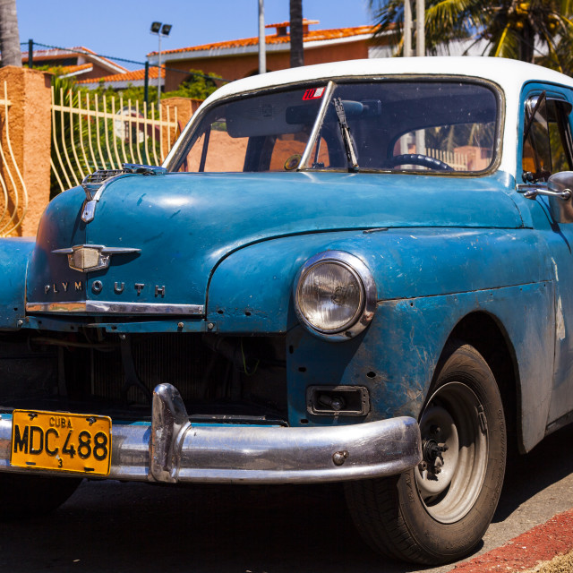 """""""Máquina on the streets of Cuba"""" stock image"""