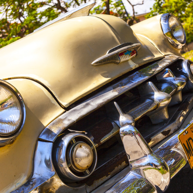 """""""Close up of a vintage car in Cuba"""" stock image"""