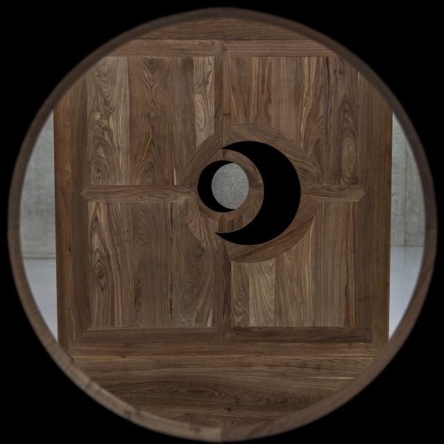 """Artist Ai Weiwei Moon Chest"" stock image"