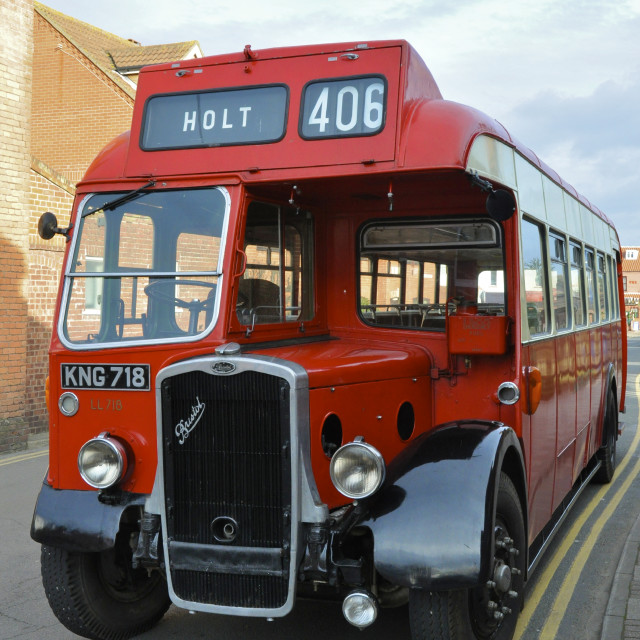 """Preserved 1950's Bristol Bus"" stock image"