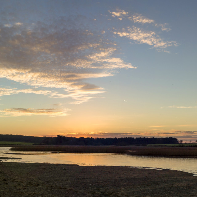 """Benacre Sunset Panorama"" stock image"