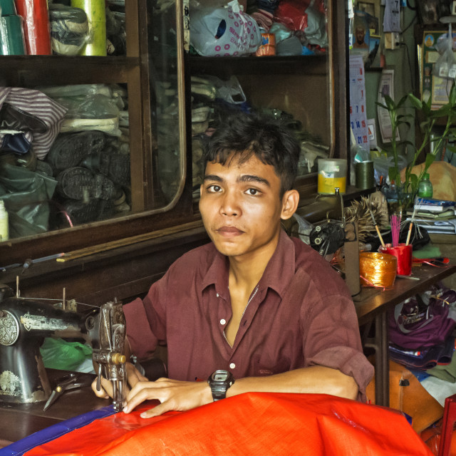 """THE YOUNG TAILOR"" stock image"