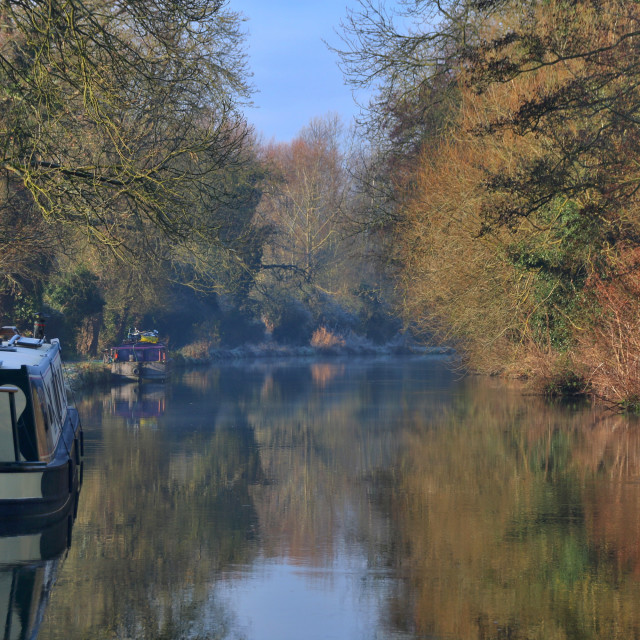 """""""Winter on the Kennet and Avon canal"""" stock image"""