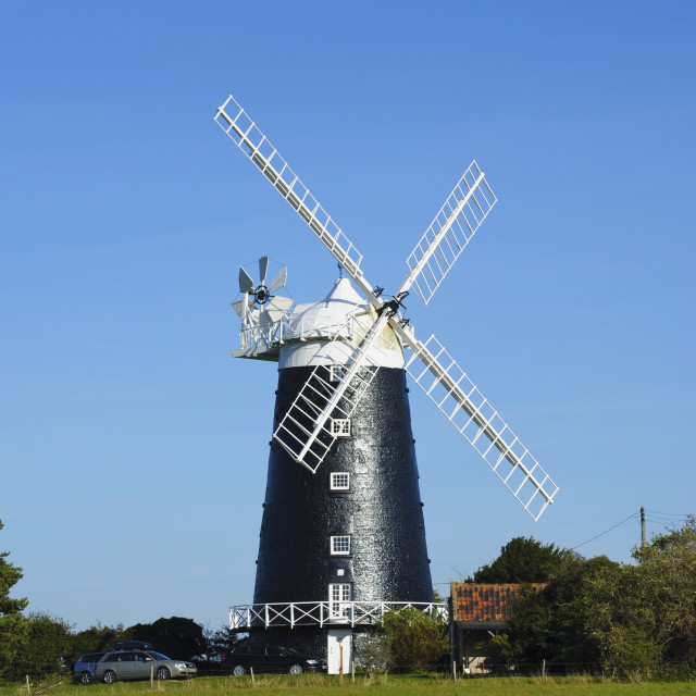 """Preserved Windmill, Norfolk"" stock image"