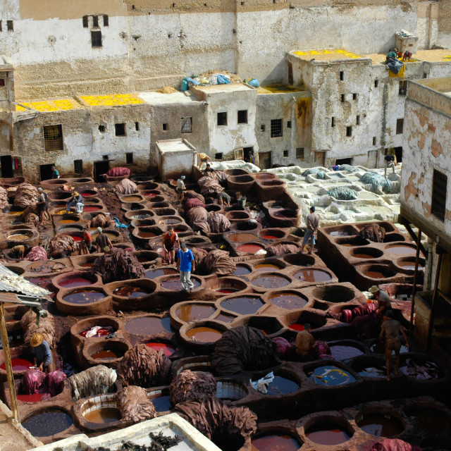 """""""Morocco tanneries"""" stock image"""