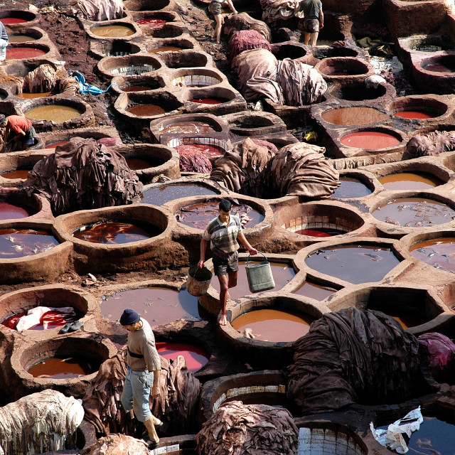 """Morocco tanneries"" stock image"