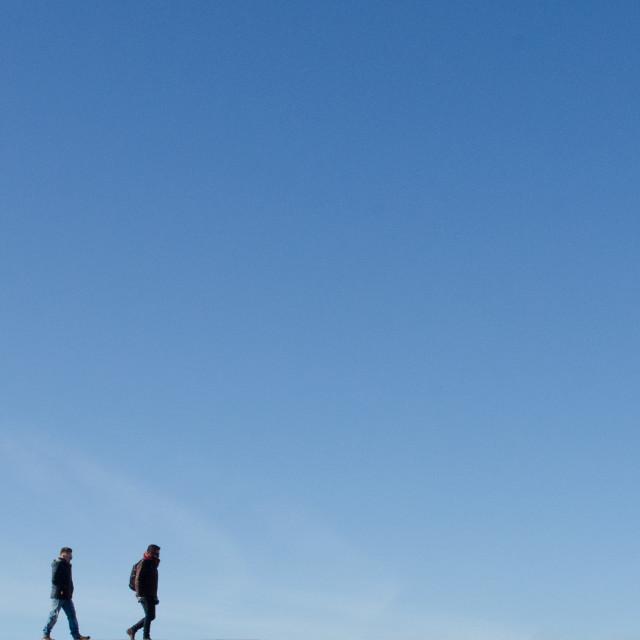"""Sky walking"" stock image"
