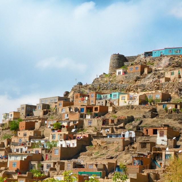 """Homes on the Hill"" stock image"