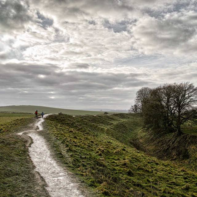 """Downland hike"" stock image"
