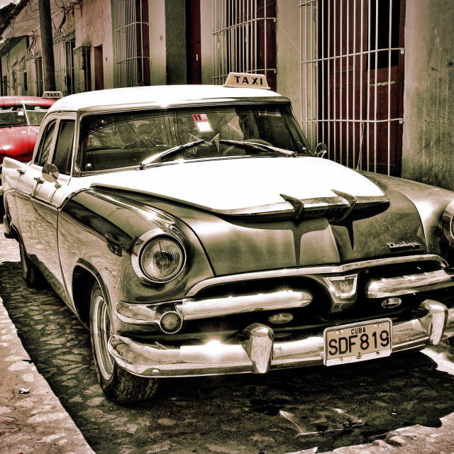 """Cars On The Street In Trinidad, Cuba"" stock image"