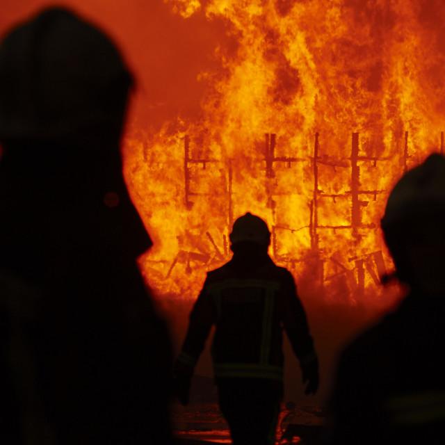 """FIREMEN"" stock image"