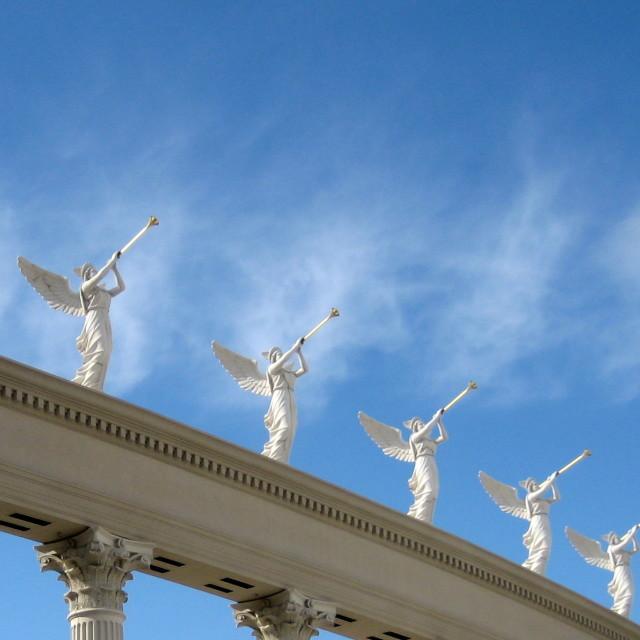 """Angelic trumpeters"" stock image"