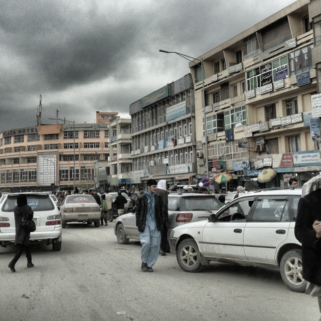"""Kabul Rush Hour"" stock image"