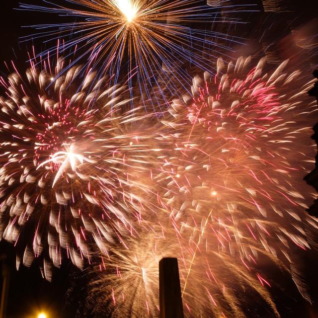 """""""Cardiff NYE fireworks"""" stock image"""