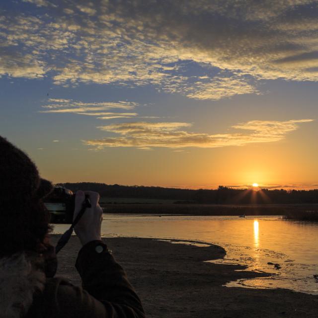 """Photographer Sunset"" stock image"