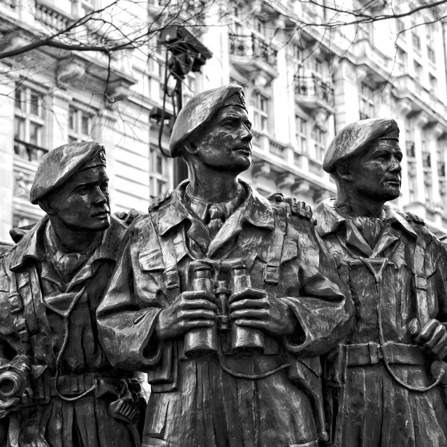 """Royal Tank Regiment Memorial Statue"" stock image"