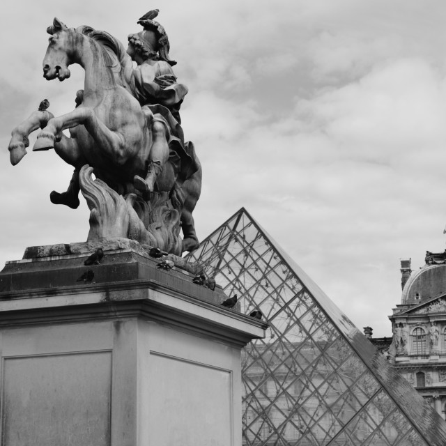 """Louvre Pyramid"" stock image"