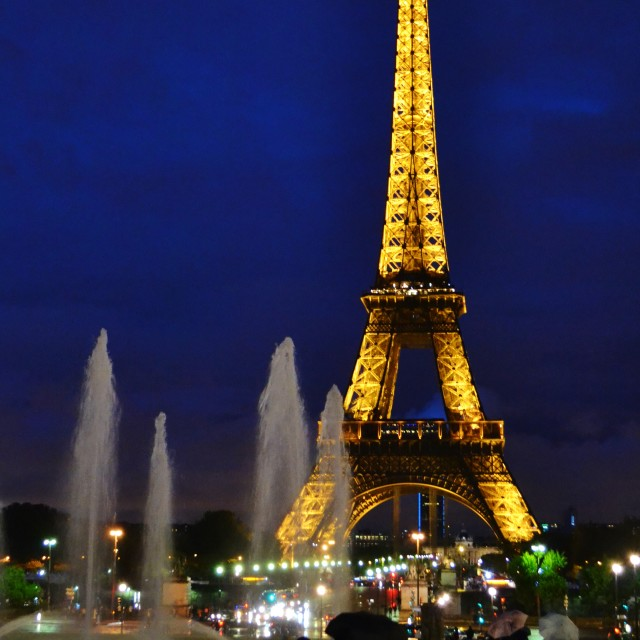 """Eiffel tower by night"" stock image"