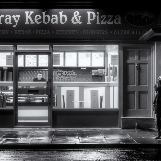"""Kebab Shops & Bus Stops"" stock image"