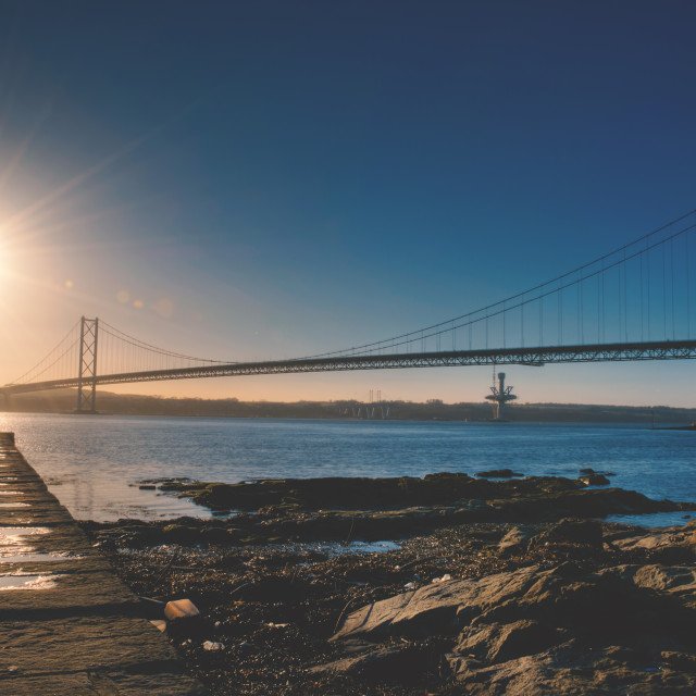 """Forth Road Bridge"" stock image"