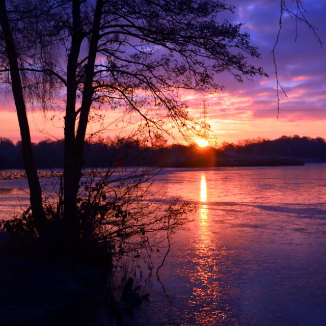"""Final Sunrise of 2014"" stock image"