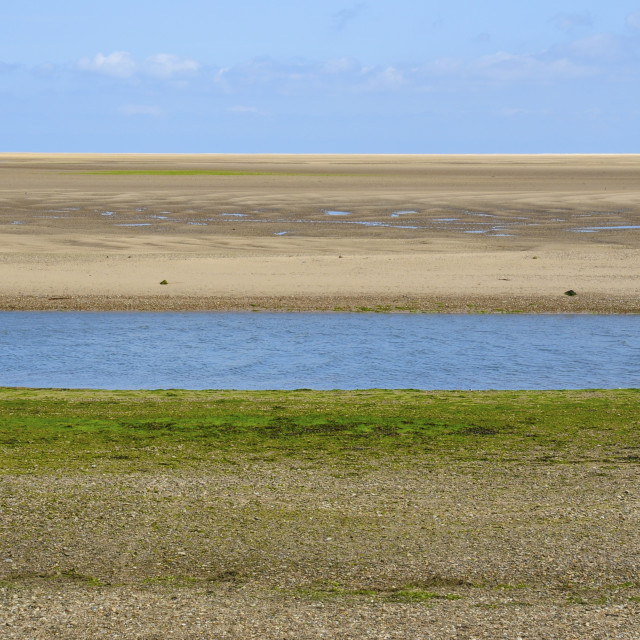 """Norfolk Coast at Low Tide"" stock image"
