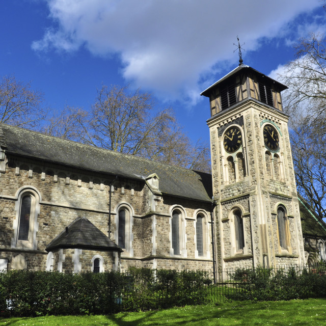 """St Pancras Old Church"" stock image"